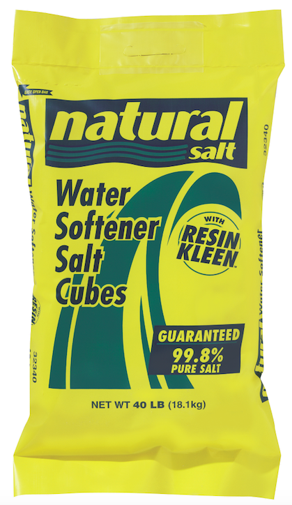 Water Softener Salt Cubes With Resin Kleen | Natural Salt